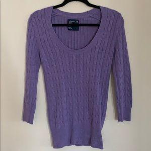 American Eagle Purple Sweater